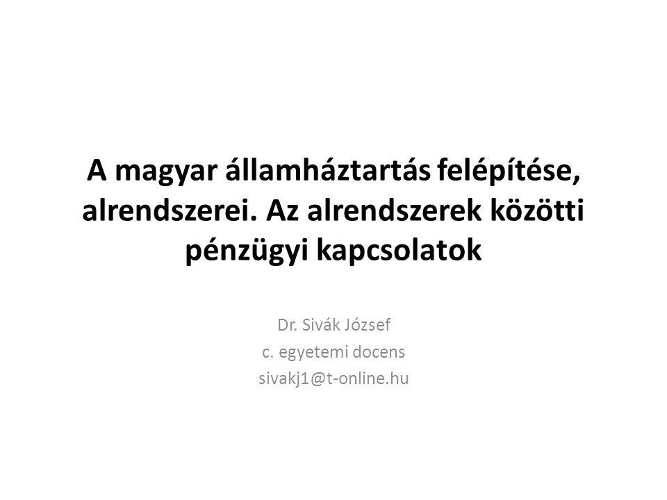 Dr. Sivák József c. egyetemi docens sivakj1@t-online.hu