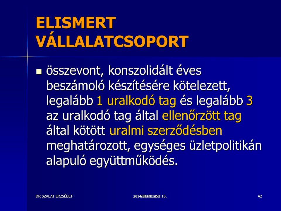 ELISMERT VÁLLALATCSOPORT