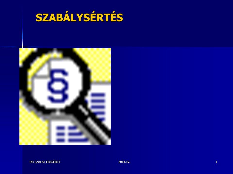 SZABÁLYSÉRTÉS DR SZALAI ERZSÉBET 2014.IV.