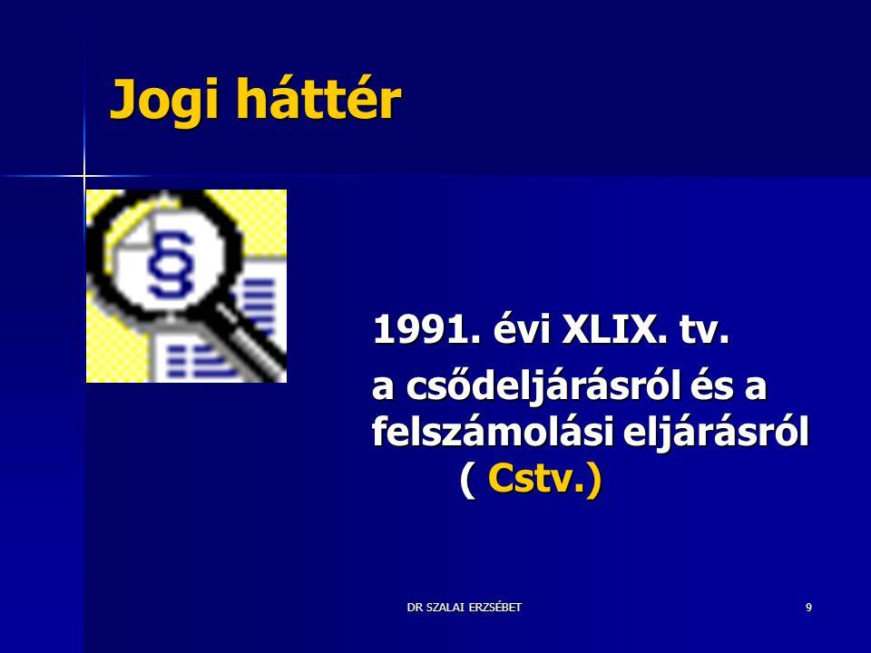 Jogi háttér 1991. évi XLIX. tv.