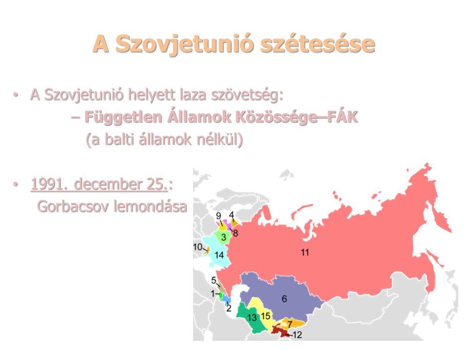 A Szovjetunió szétesése
