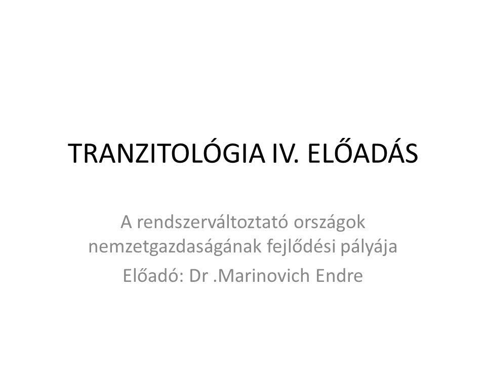 TRANZITOLÓGIA IV. ELŐADÁS