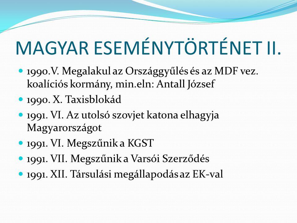 MAGYAR ESEMÉNYTÖRTÉNET II.