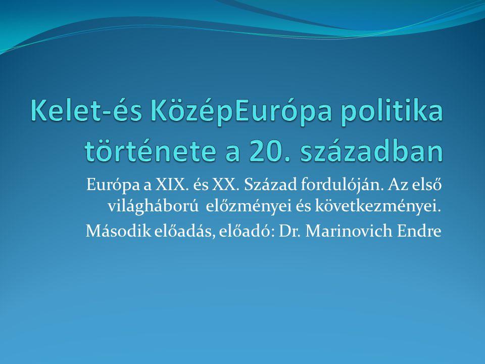 Kelet-és KözépEurópa politika története a 20. században