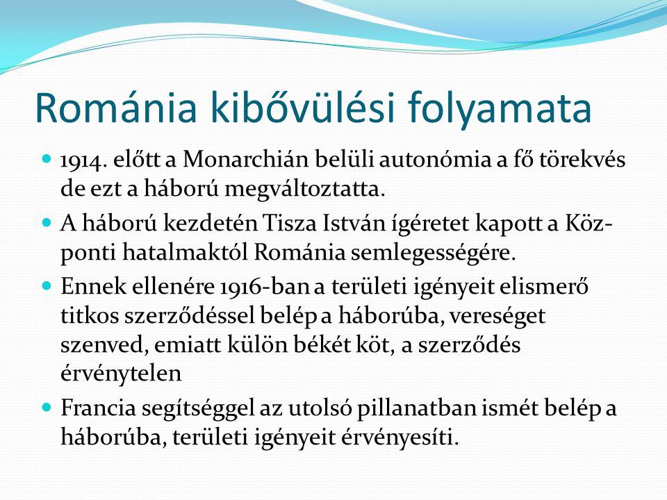 Románia kibővülési folyamata