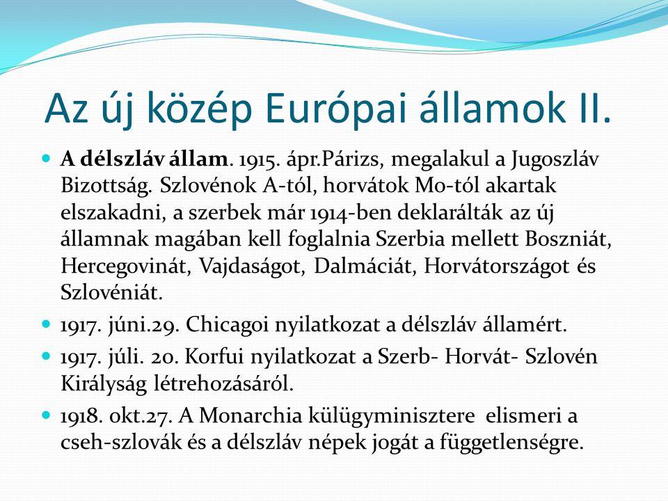 Az új közép Európai államok II.