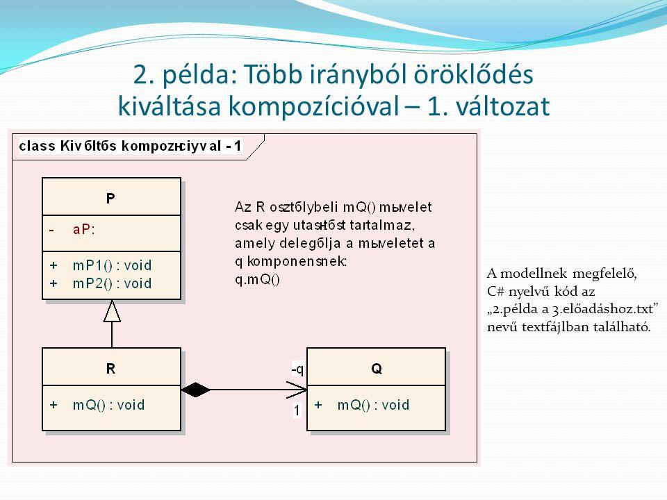 2. példa: Több irányból öröklődés kiváltása kompozícióval – 1. változat