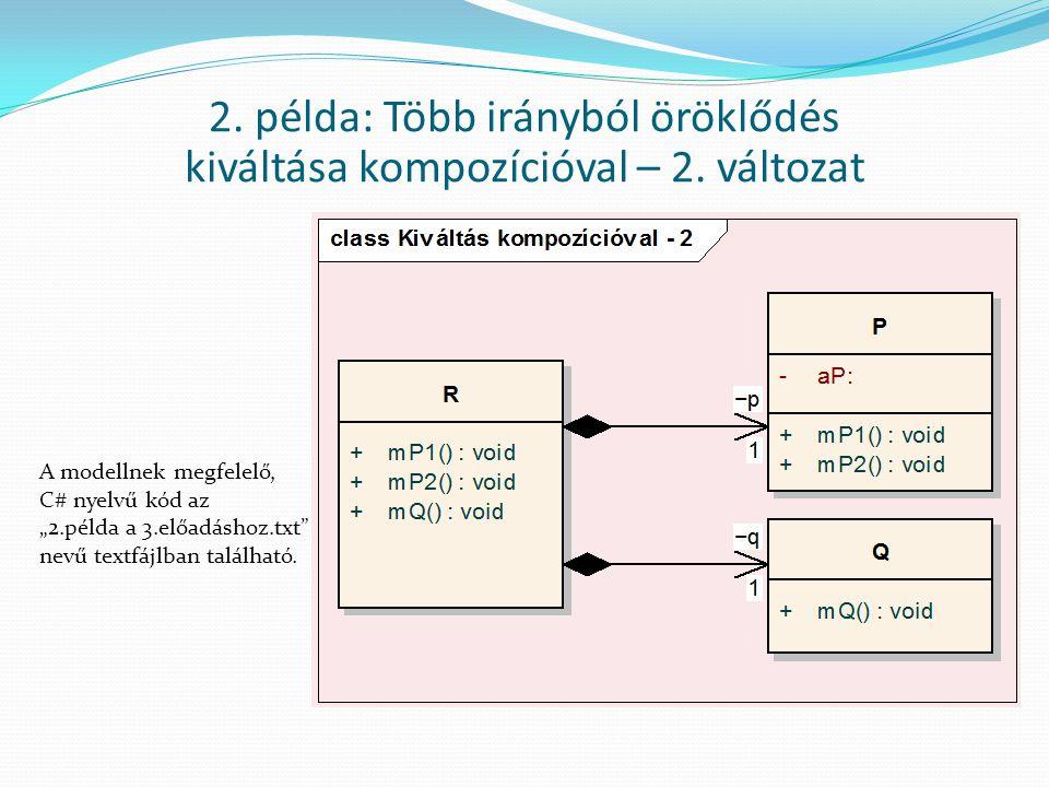 2. példa: Több irányból öröklődés kiváltása kompozícióval – 2. változat