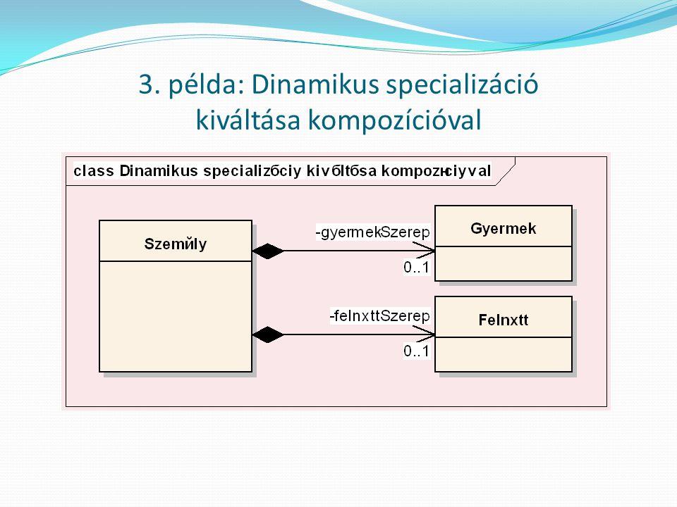 3. példa: Dinamikus specializáció kiváltása kompozícióval