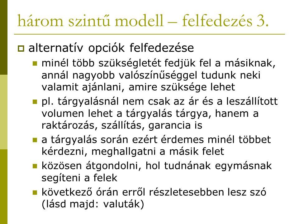 három szintű modell – felfedezés 3.