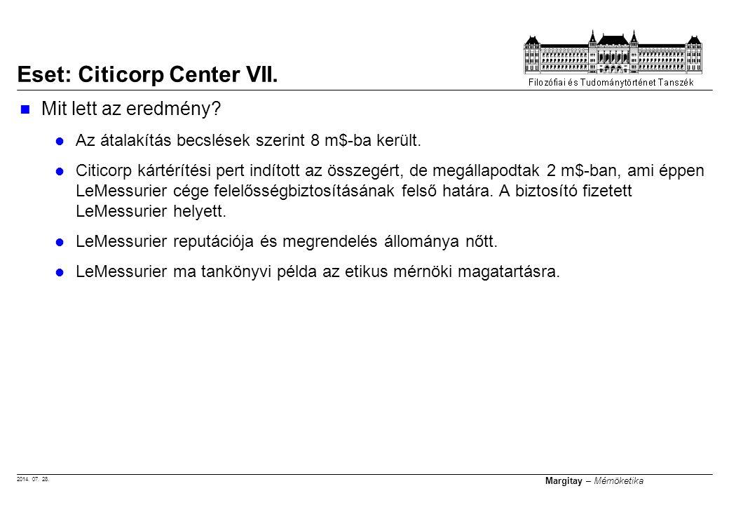 Eset: Citicorp Center VII.