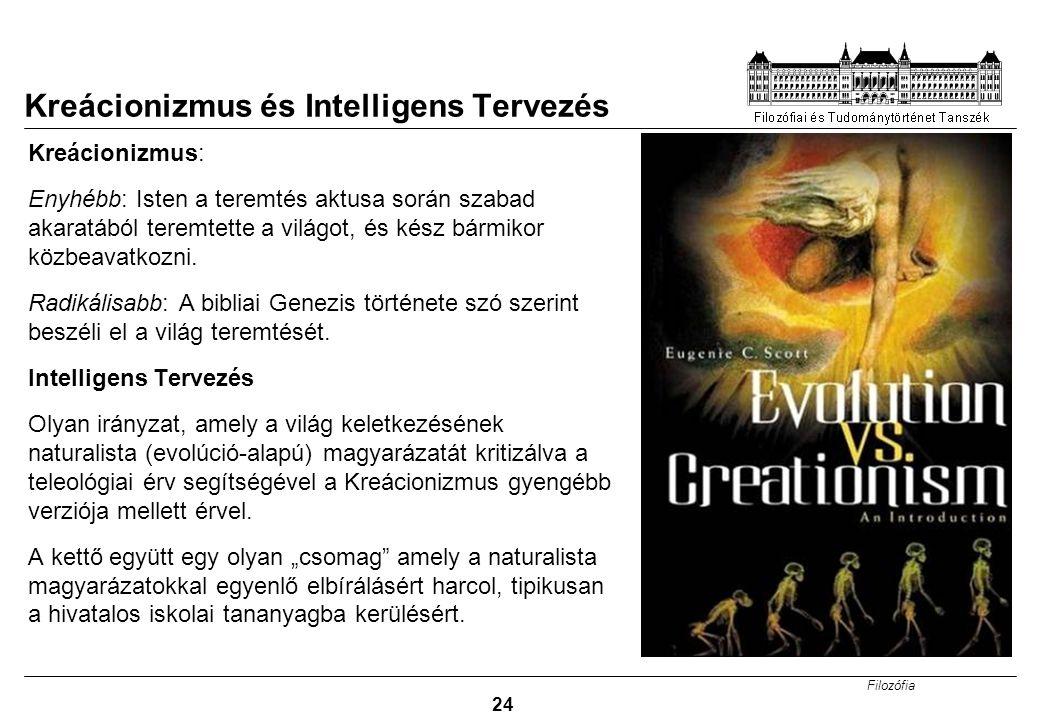Kreácionizmus és Intelligens Tervezés