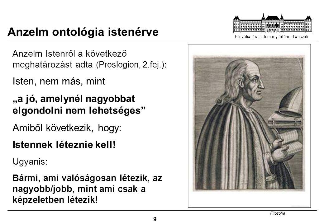 Anzelm ontológia istenérve