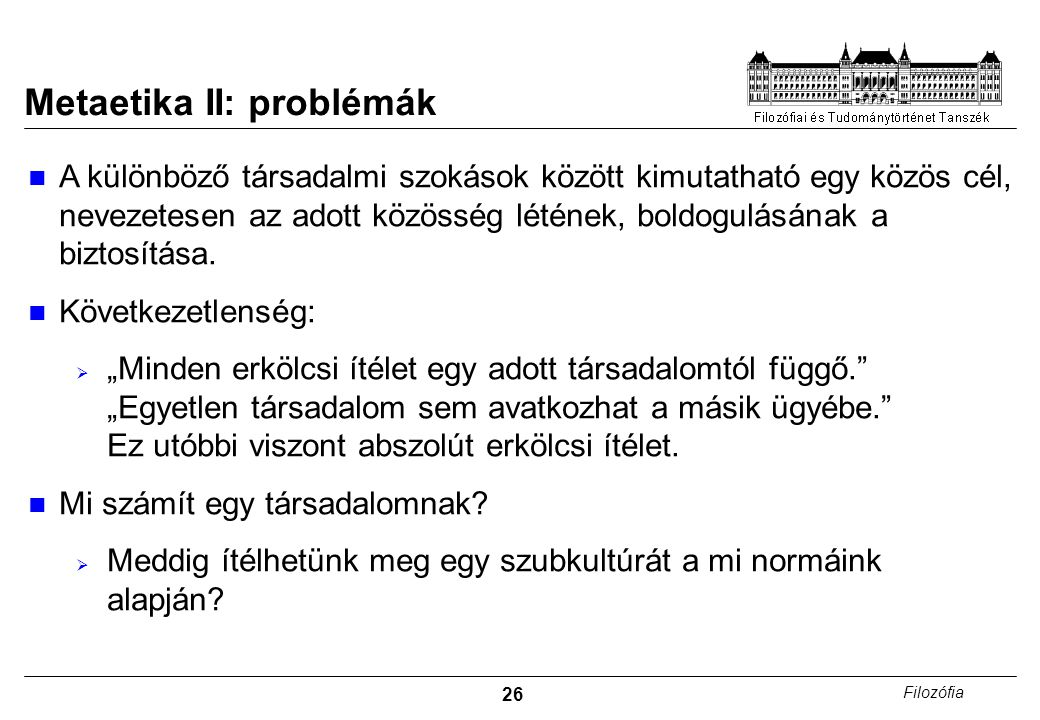 Metaetika II: problémák