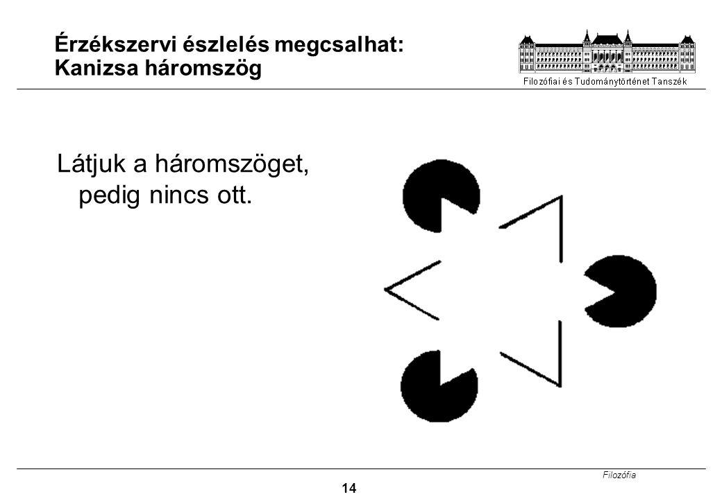 Érzékszervi észlelés megcsalhat: Kanizsa háromszög