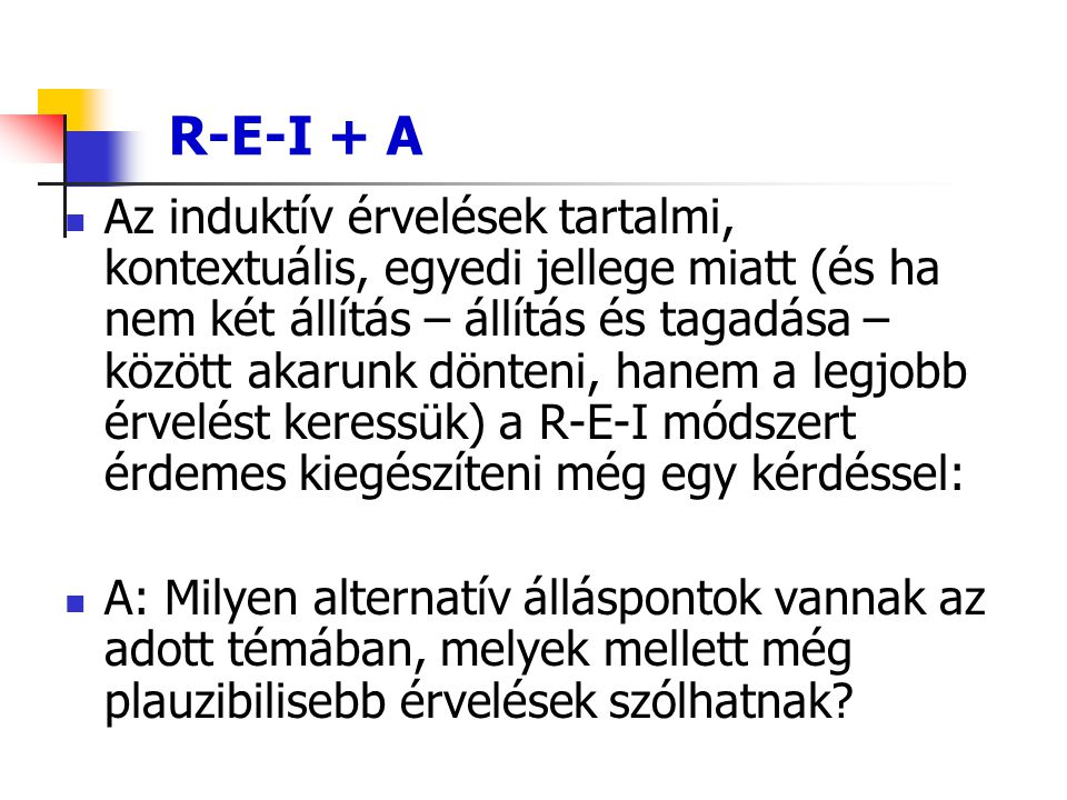 R-E-I + A