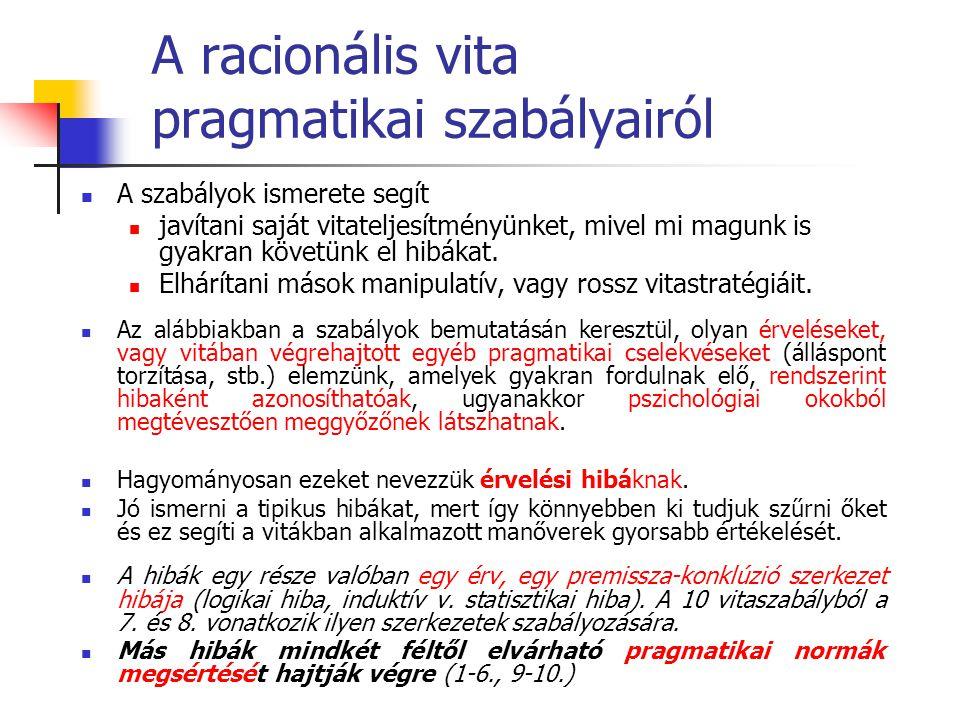 A racionális vita pragmatikai szabályairól