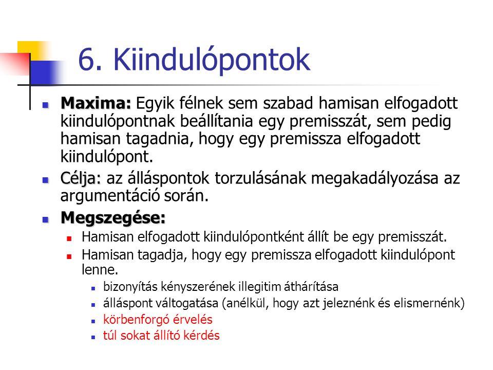 6. Kiindulópontok