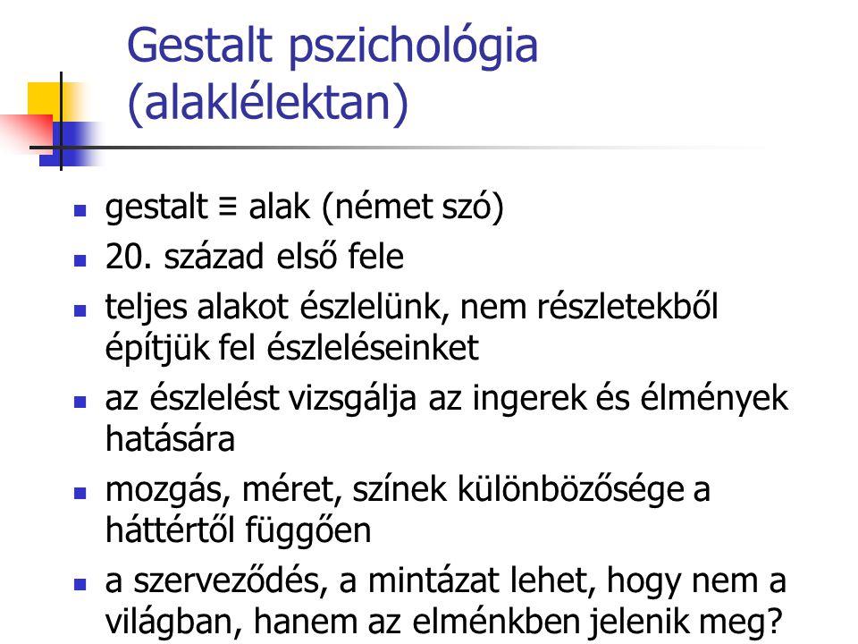 Gestalt pszichológia (alaklélektan)