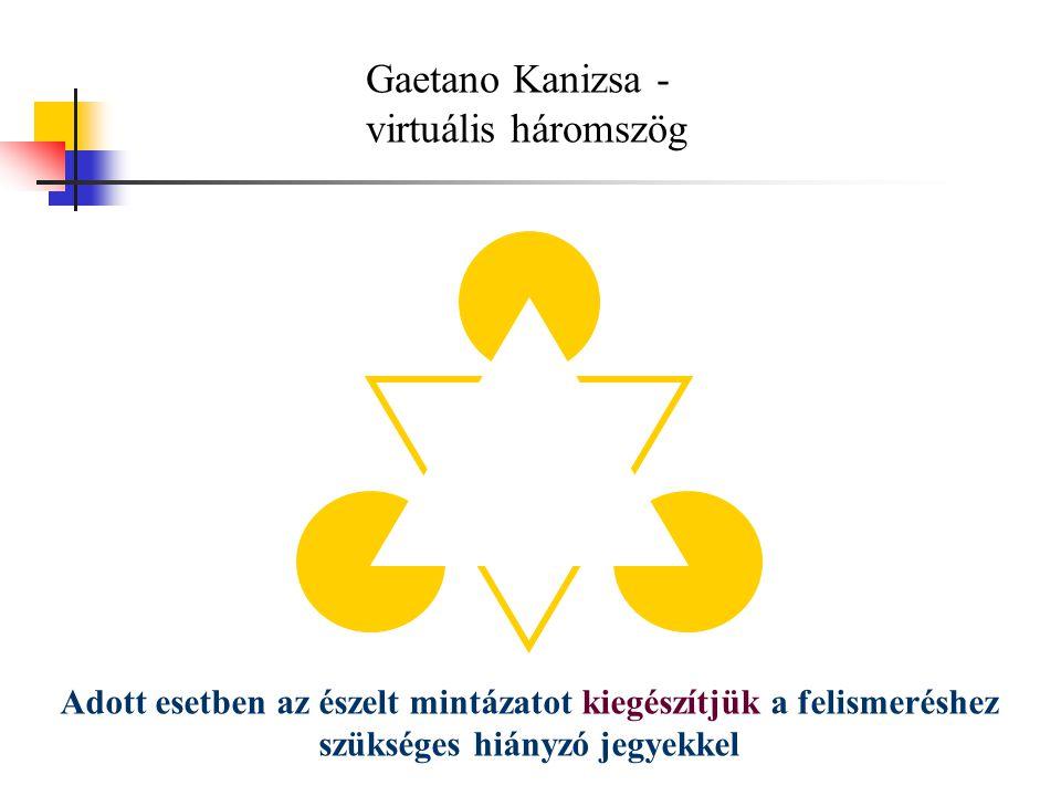 Gaetano Kanizsa - virtuális háromszög