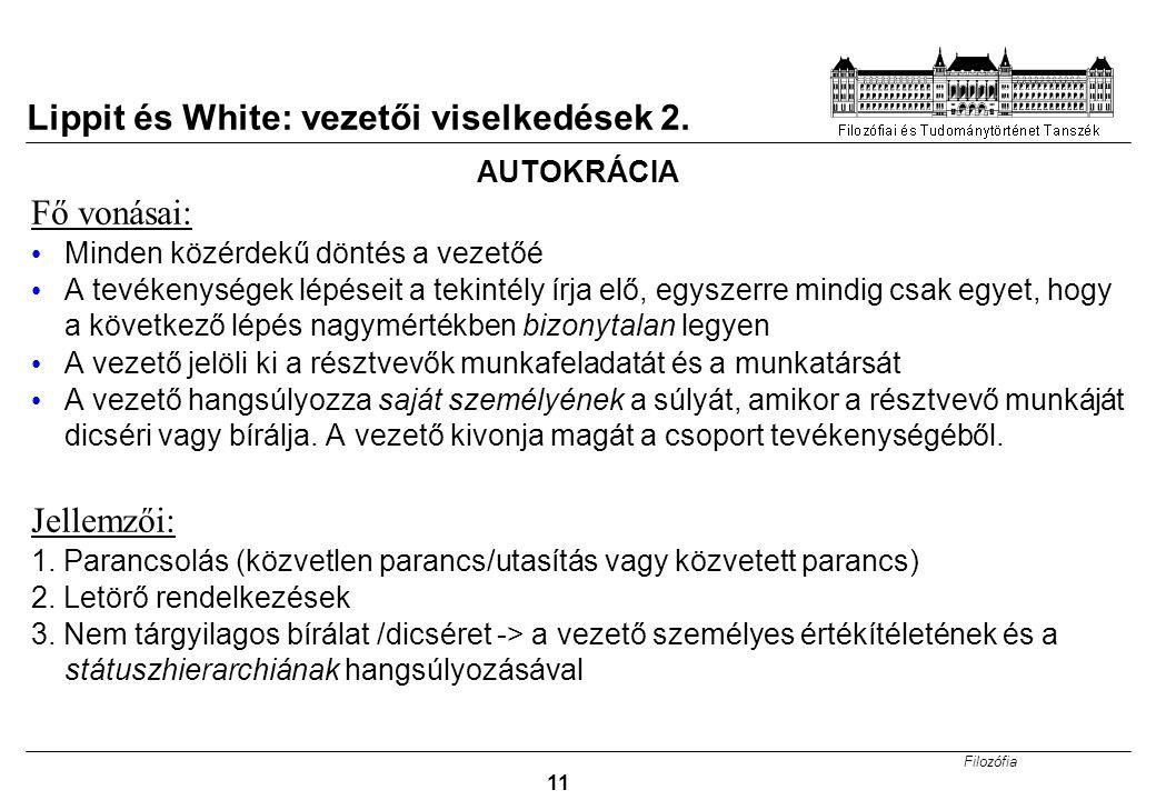 Lippit és White: vezetői viselkedések 2.