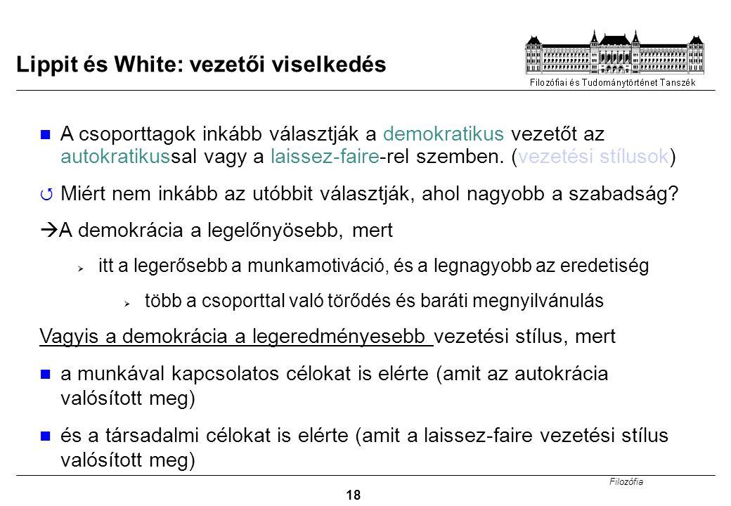 Lippit és White: vezetői viselkedés