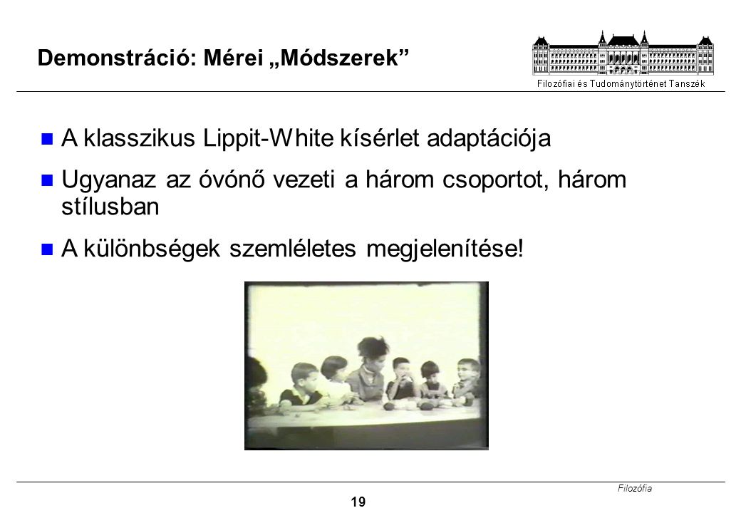 A klasszikus Lippit-White kísérlet adaptációja