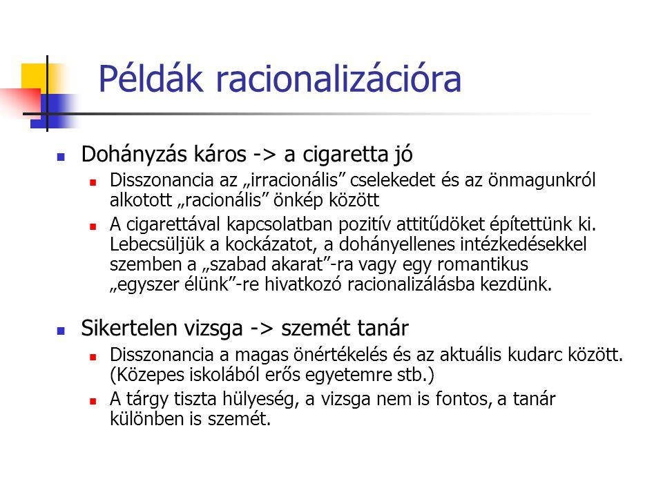 Példák racionalizációra