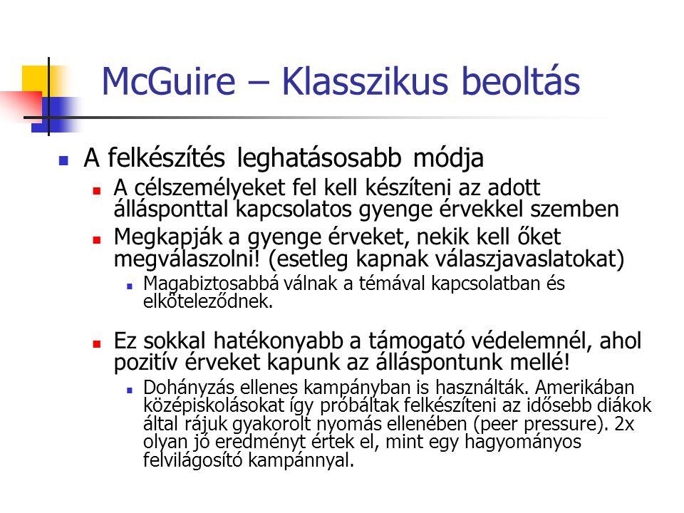 McGuire – Klasszikus beoltás