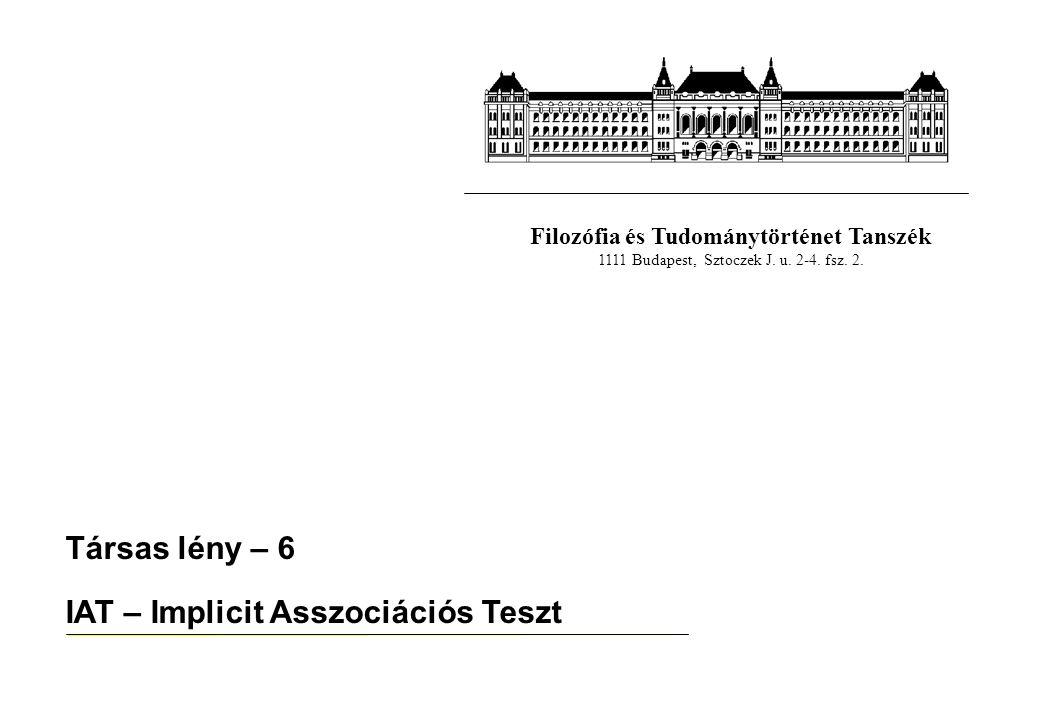 IAT – Implicit Asszociációs Teszt