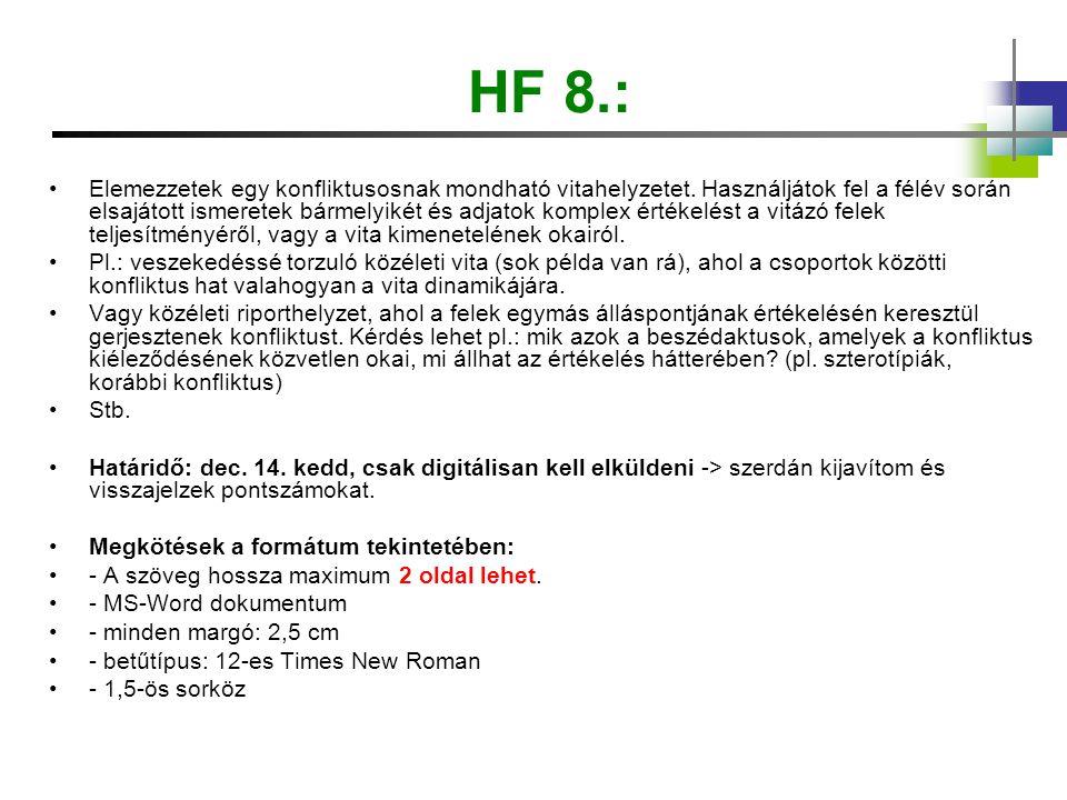 HF 8.: