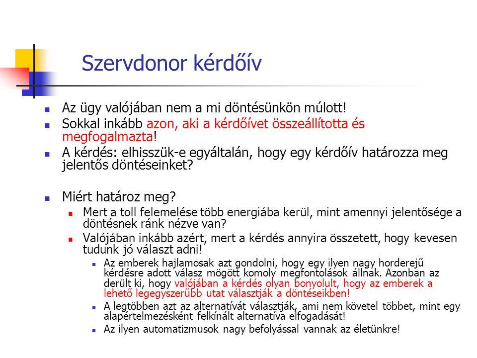 Szervdonor kérdőív Az ügy valójában nem a mi döntésünkön múlott!