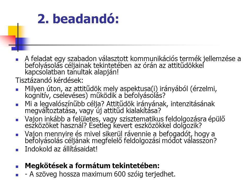 2. beadandó: