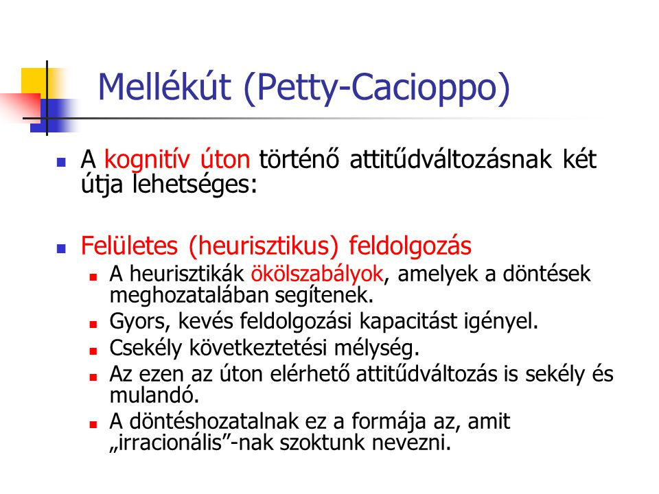 Mellékút (Petty-Cacioppo)