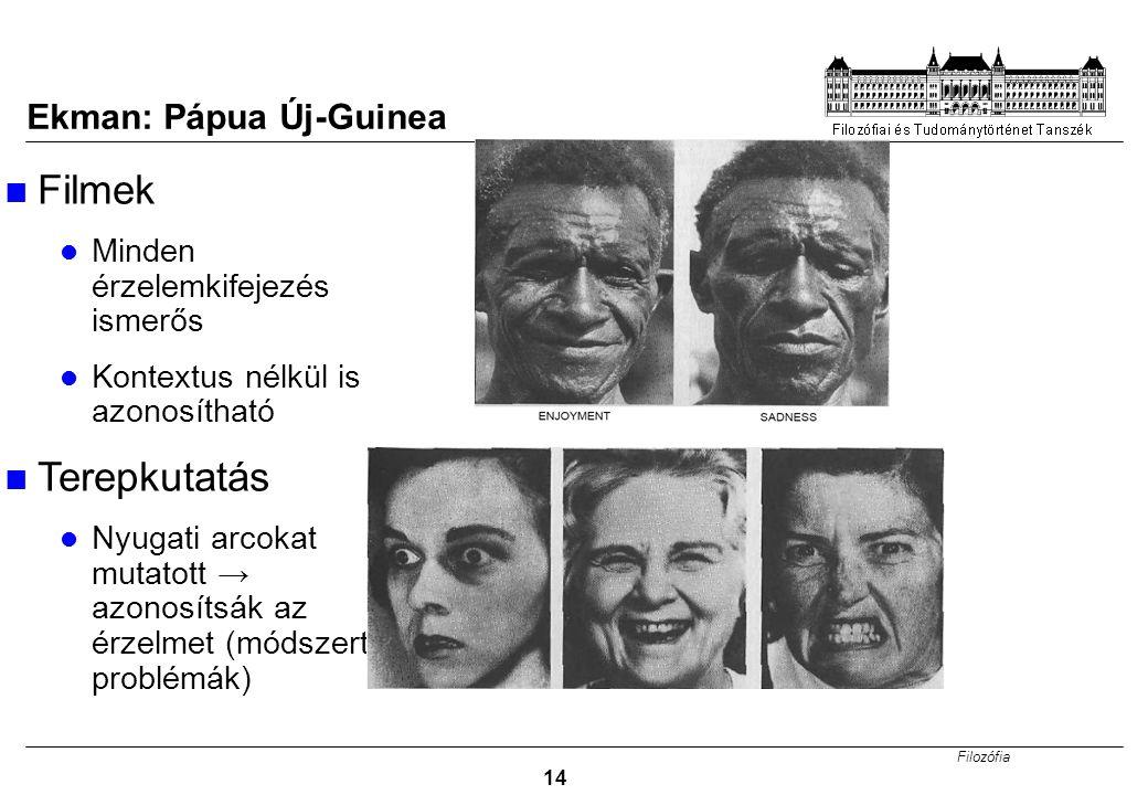 Filmek Terepkutatás Ekman: Pápua Új-Guinea