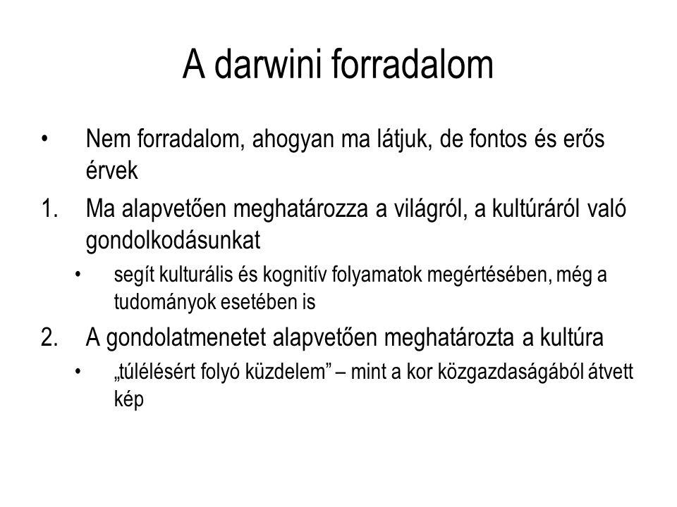 A darwini forradalom Nem forradalom, ahogyan ma látjuk, de fontos és erős érvek.