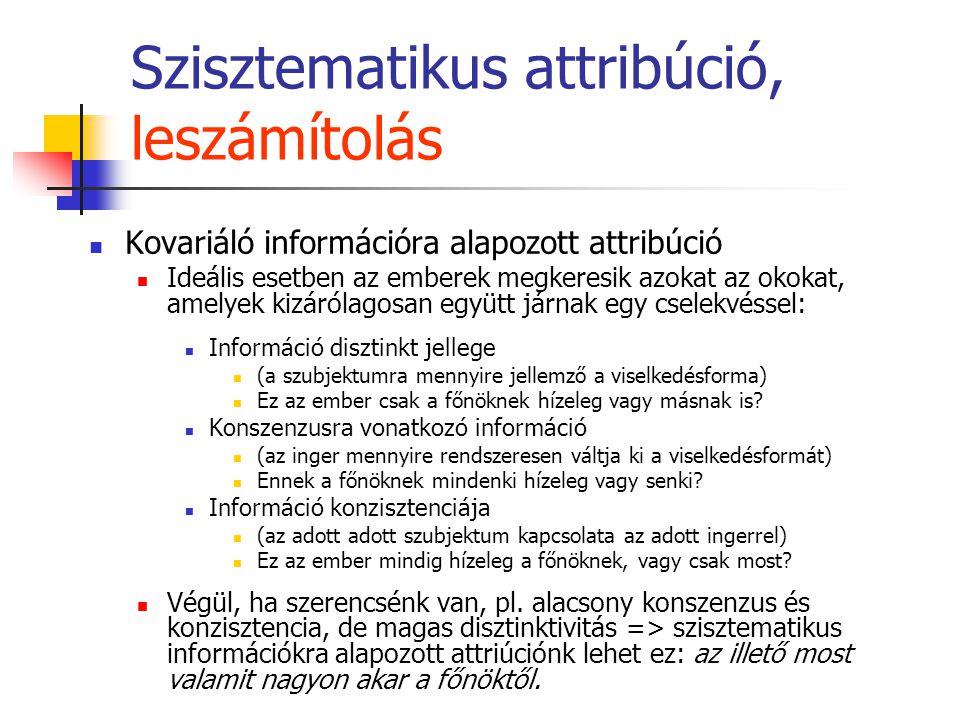 Szisztematikus attribúció, leszámítolás