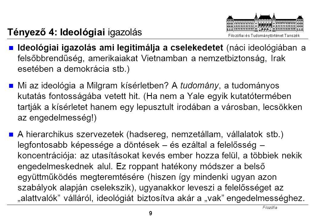 Tényező 4: Ideológiai igazolás