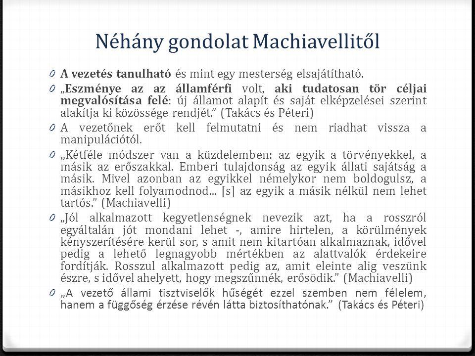 Néhány gondolat Machiavellitől