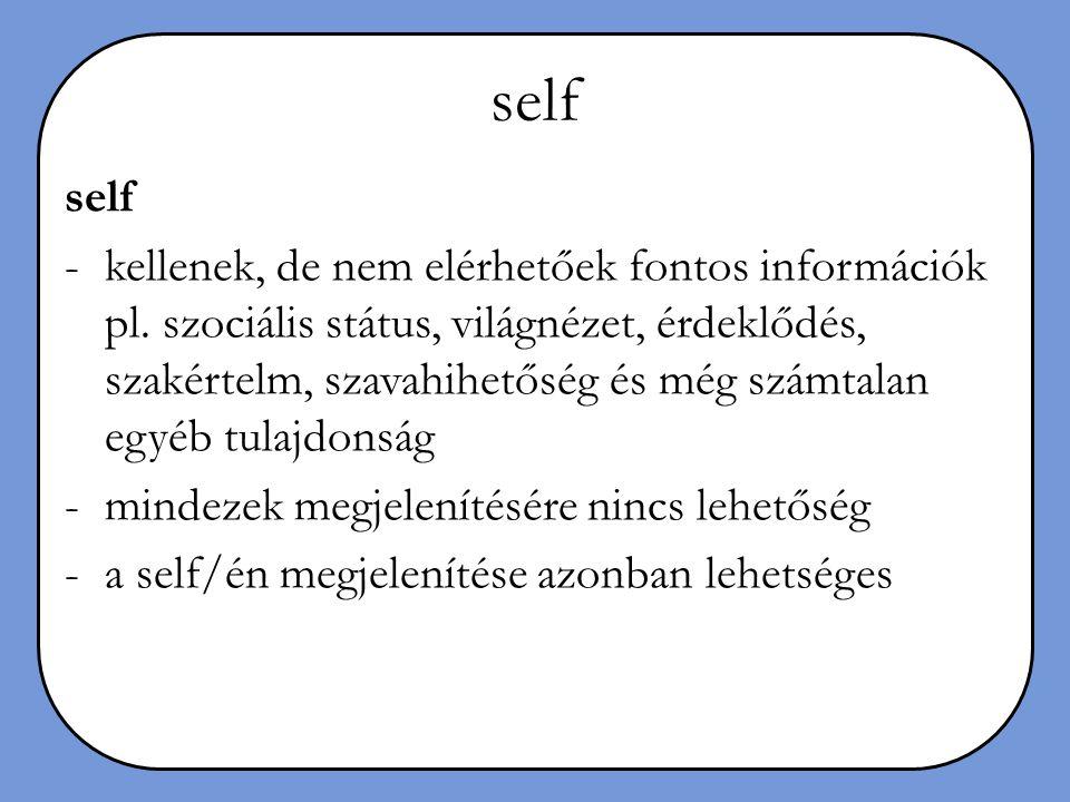 self self.