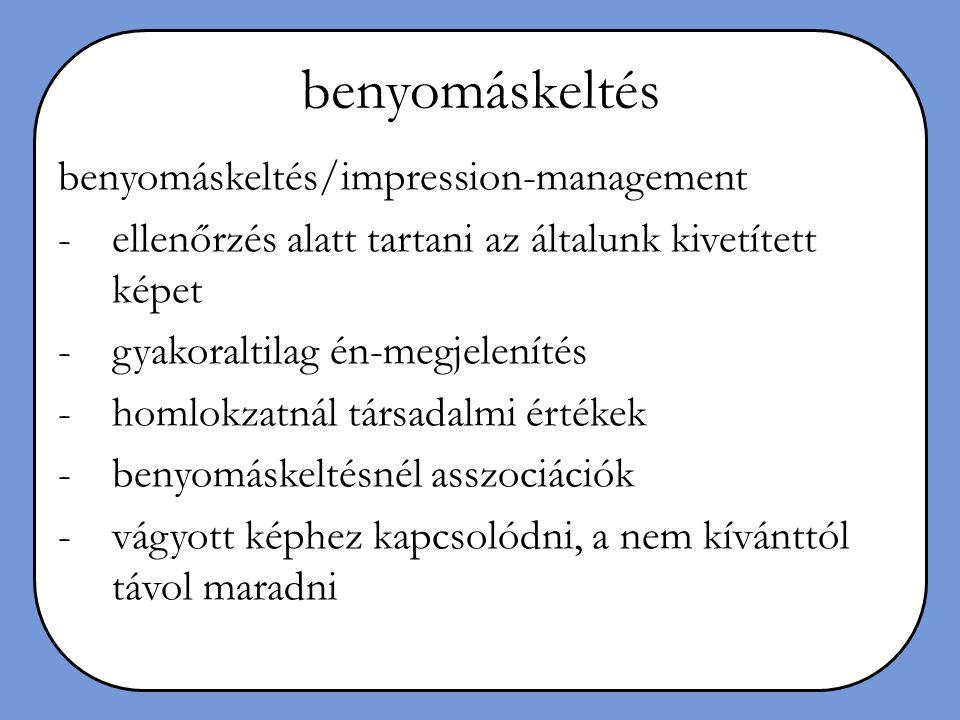 benyomáskeltés benyomáskeltés/impression-management