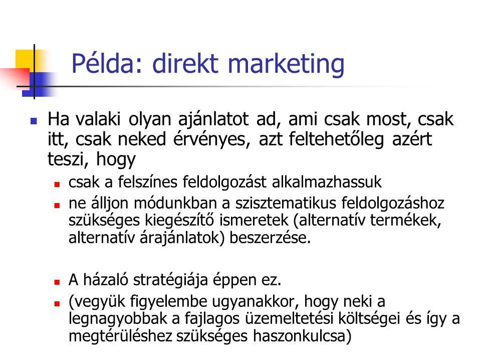 Példa: direkt marketing