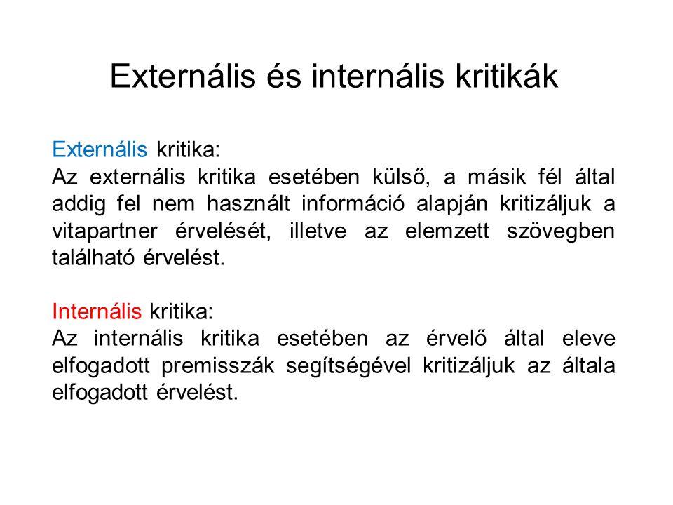 Externális és internális kritikák