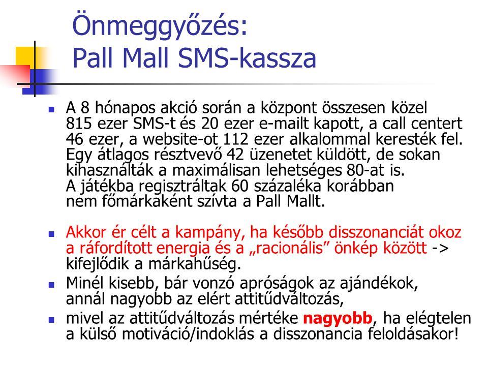 Önmeggyőzés: Pall Mall SMS-kassza