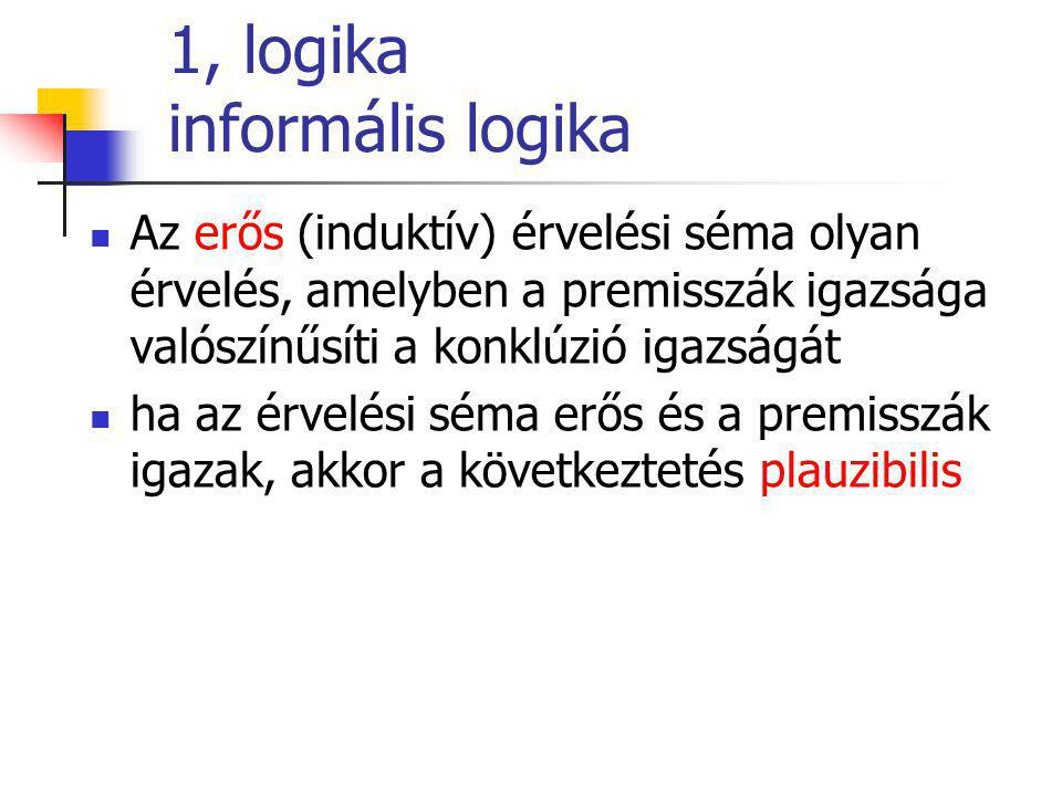 1, logika informális logika