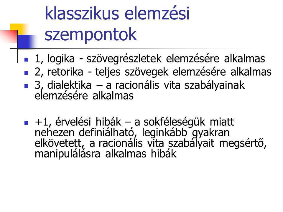 klasszikus elemzési szempontok