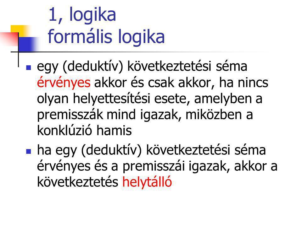 1, logika formális logika