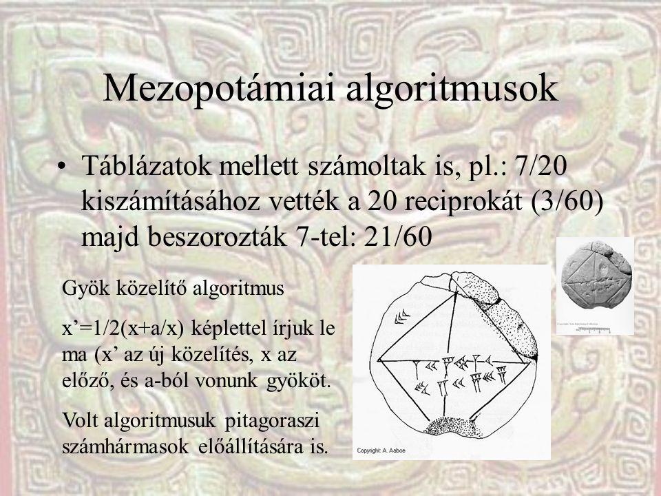 Mezopotámiai algoritmusok