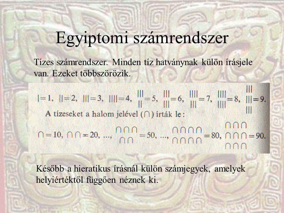 Egyiptomi számrendszer