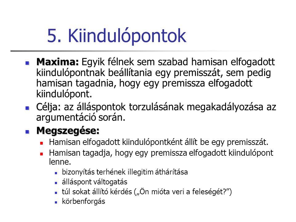 5. Kiindulópontok